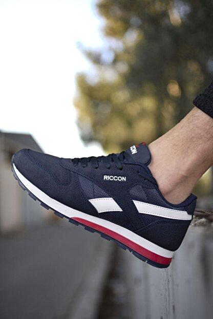 Riccon Lacivert Unisex Cilt Sneaker 0012853