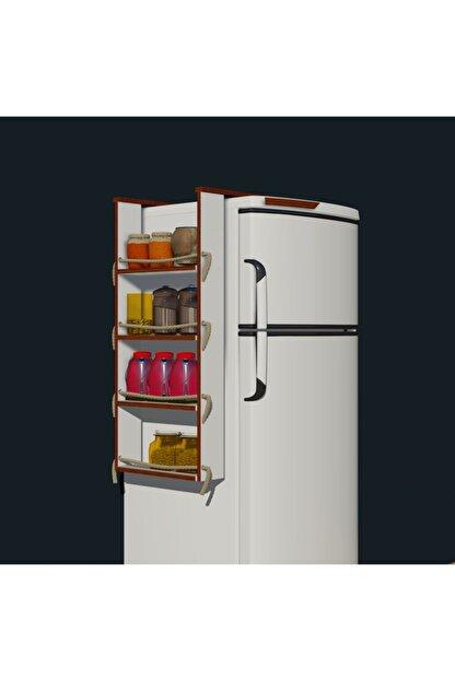 Fokai Wood Buzdolabı Yanı Rafı