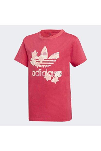 adidas Çocuk Pembe Orginals Logo T-Shirt