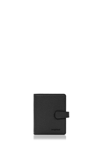 Cengiz Pakel Erkek Siyah Deri Kartlık 2427