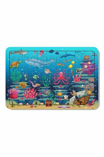Baskı Atölyesi 54 Parça Ahşap Puzzle Deniz Canlıları