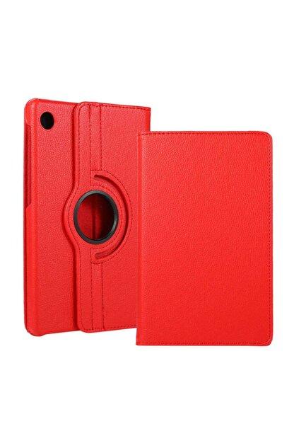 Huawei Matepad T10 Kılıf 360°dönebilen Deri Leather New Style Cover Case(kırmızı)