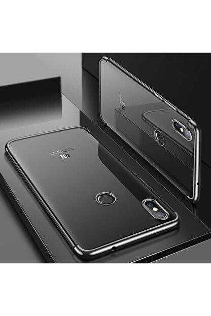 Dijimedia Xiaomi Mi 8 Köşeleri Renkli Şeffaf Kaliteli Kamera Korumalı Kılıf