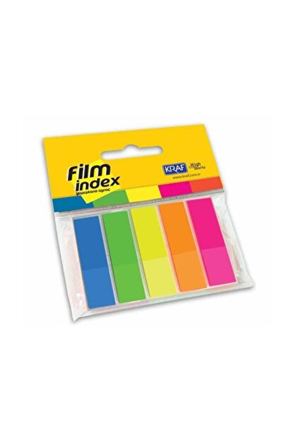 KRAF Film Index 13x44mm 5 Renk X 25 Say.1344