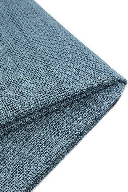 Nazik Home Linen Keten Kumaş Mavi Renk
