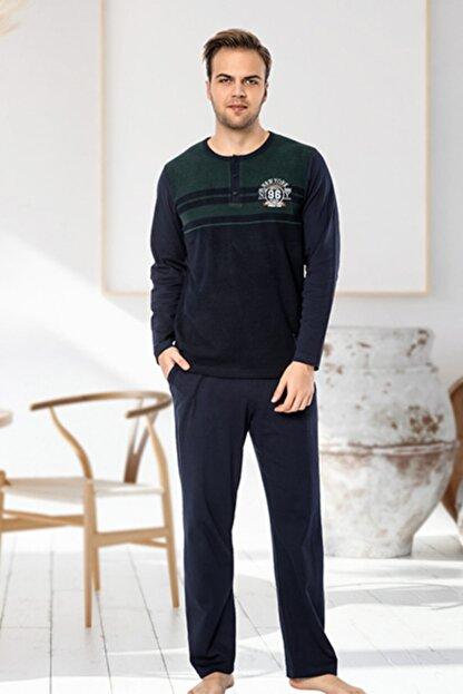 IBIZA PİJAMA Erkek Yeşil Penye Jakar Kumaş Pijama Takımı