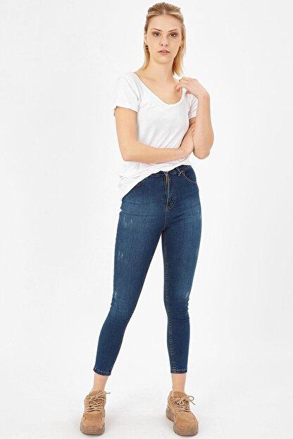 Arma Life Kadın Çağla Tint Taşlanmış Lazerli Yüksek Bel Likralı Pantolon