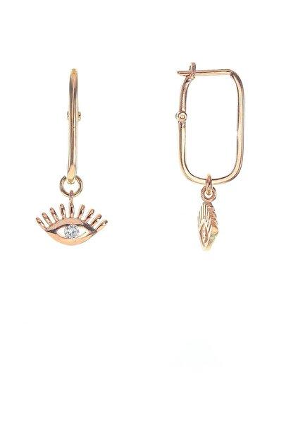 Söğütlü Silver Gümüş Göz Modeli Zirkon Taşlı Göçmen Küpe