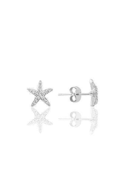 Söğütlü Silver Gümüş Zirkon Taşlı Deniz Yıldızı Modeli Küpe