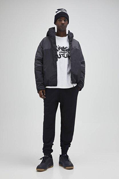 Pull & Bear Erkek Siyah Renkli Jogging Fit Pantolon 04676513