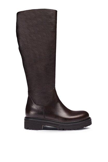 Deery Hakiki Deri Kahverengi Kadın Çizme 01807ZSYHE01