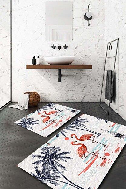 Evsebu Turuncu Flamingo Banyo Paspası