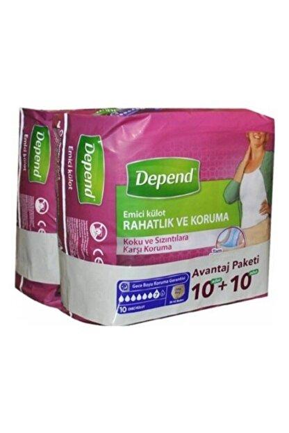 Depend Kadın Emici Orta Külot 10+10 Paket