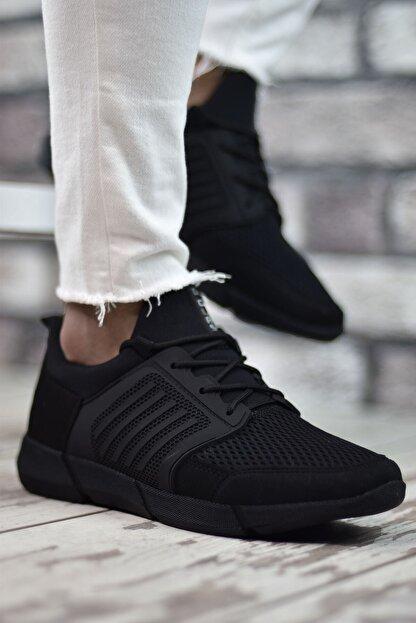 Riccon Siyah Siyah Sportz Erkek Sneaker