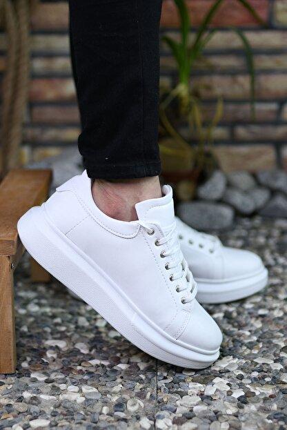 Riccon Beyaz Beyaz Erkek Sneaker 0012360