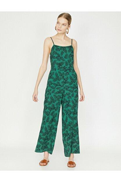 Koton Kadın Yeşil Desenli Tulum 9YAK48659PW
