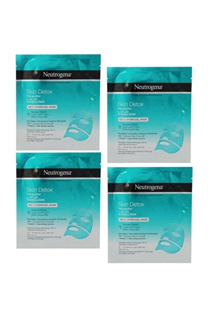 Neutrogena Skin Detox Deniz Yosunu Özlü Arındırıcı Hidrojel Maske 30 Ml 4 Adet
