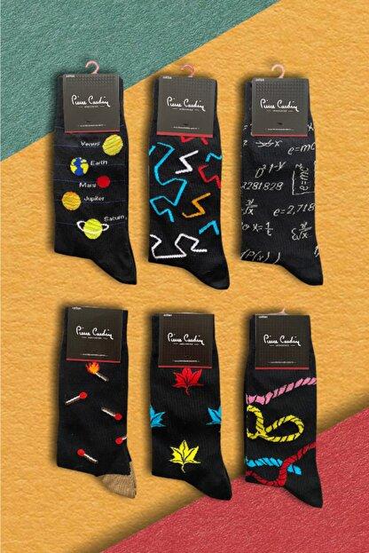 Pierre Cardin 6 'lı Erkek Desenli Neşeli Pamuk Çorap