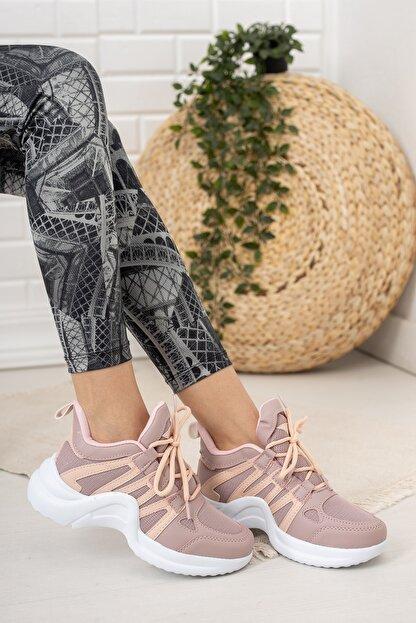 Moda Değirmeni Kadın Gül Kurusu Sneaker Md1054-101-0001