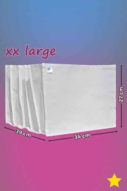 MİA Home Production Beyaz - Xx Large Boy / 5 Gözlü Çekmece Dolap Içi Düzenleyici - Organizer