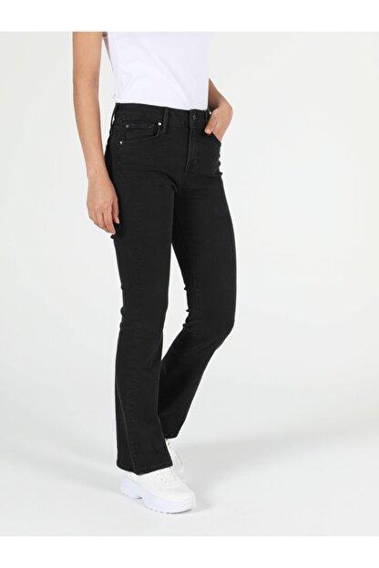 Colin's 791 Monıca Regular Fit Orta Bel Boru Paça Kadın Siyah Jean Pantolon