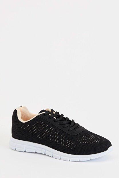 Defacto Kadın Siyah Bağcıklı Aktif Spor Ayakkabı S1728AZ20AU