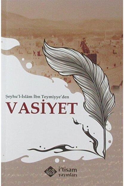 İtisam Yayıncılık Şeyhu'l-islam Ibn Teymiyye'den Vasiyet