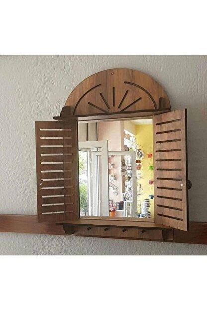 trendyhome Dekoratif Ahşap Panjurluk Askılık Ve Ayna