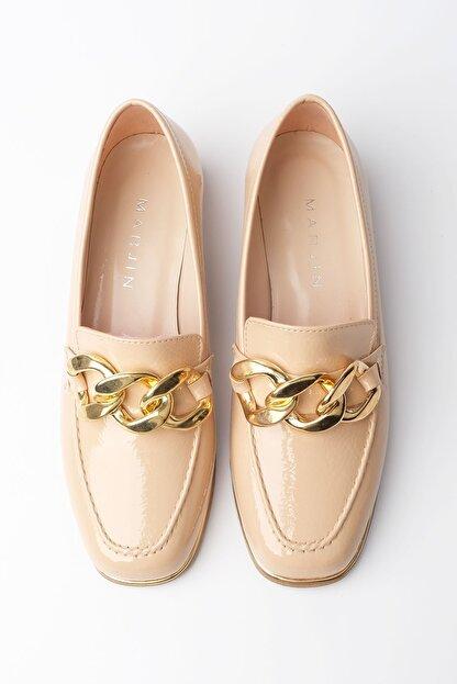 Marjin Kadın Bej Rugan Loafer Ayakkabı Annar