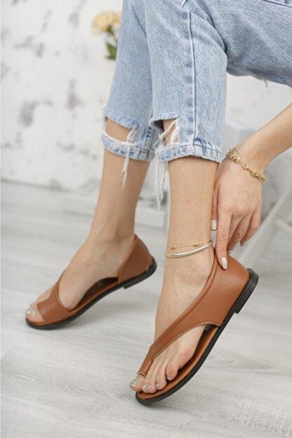 Moda Frato Pwr-33 Parmak Arası Kadın Ayakkabı Sandalet