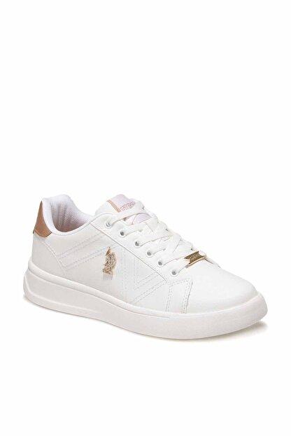 US Polo Assn EXXY Beyaz Kadın Havuz Taban Sneaker 100606373