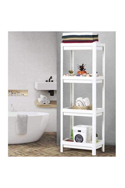 KARİN EV Ikea Vesken 3 Bölmeli Banyo Raf Ünitesi Beyaz Banyo Mutfak Düzenleyici
