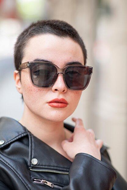 Bilge Karga Kadın Gri Bianca Grey Güneş Gözlüğü