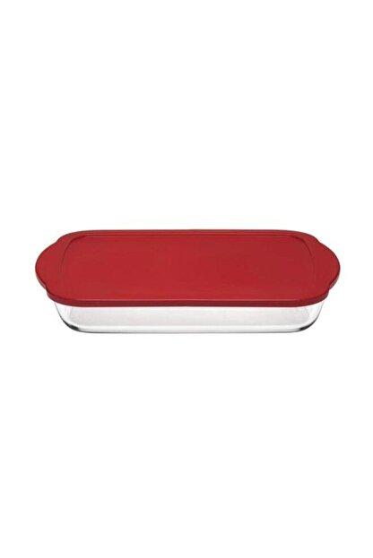 Paşabahçe Borcam Kırmızı Kapaklı Dikdörtgen Saklama Kabı