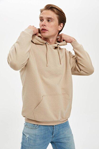 Defacto Oversize Fit Kapüşonlu Sweatshirt