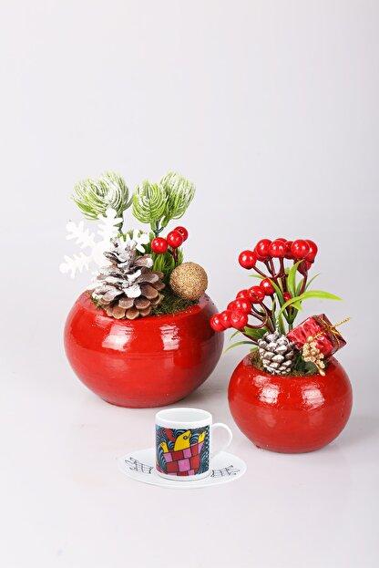 Kibrithane Çiçek Kc00400123 Yılbaşı Konsepti Yapay Kokina Yeşillik 3'lü Set