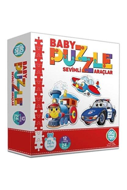 Altıngöz Oyuncak Circle Toys Baby Puzzle Sevimli Araçlar