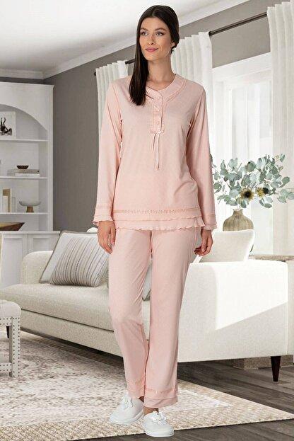 Mecit Pijama Pudra Hamile Lohusa Pijama Takımı