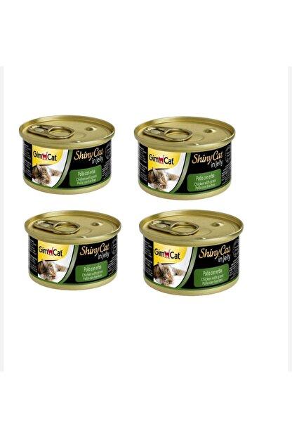 Gimcat Shinycat Konserve Kedi Maması - Tavuklu Kedi Otlu 70gr 4lü Set