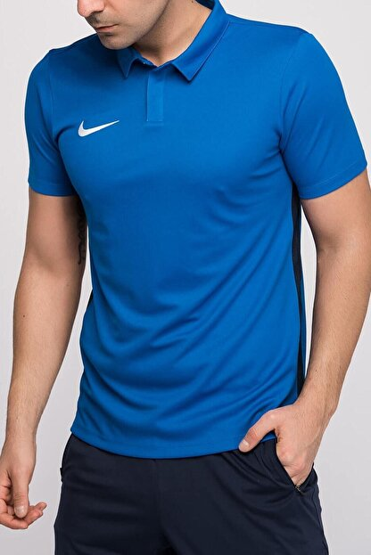 Nike Erkek Mavi Polo M Nk Dry Acdmy18 Polo Ss T-shirt 899984-463