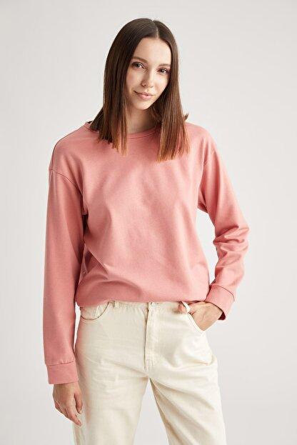 Defacto Basic Relax Fit Örme Sweatshirt