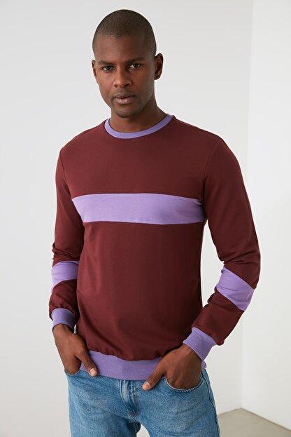 TRENDYOL MAN Kahverengi Erkek  Sweatshirt TMNAW21SW1099