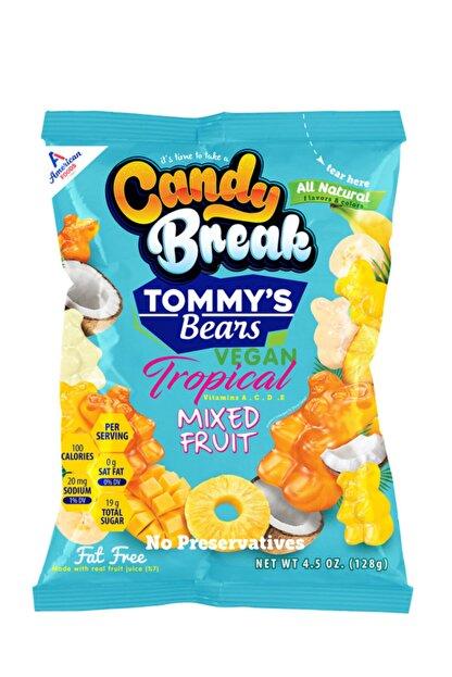 Tommy's Bears Jelibon Tropikal Yumuşak Şeker 128 G. Jelatinsiz - Vegan