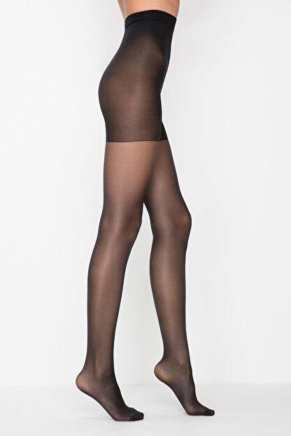 Penti Kadın Siyah Siluet Korseli Mat Külotlu Çorap 500/5