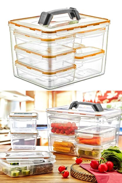 kitchen trend 8'li Fresh Box Saklama Kabı Seti