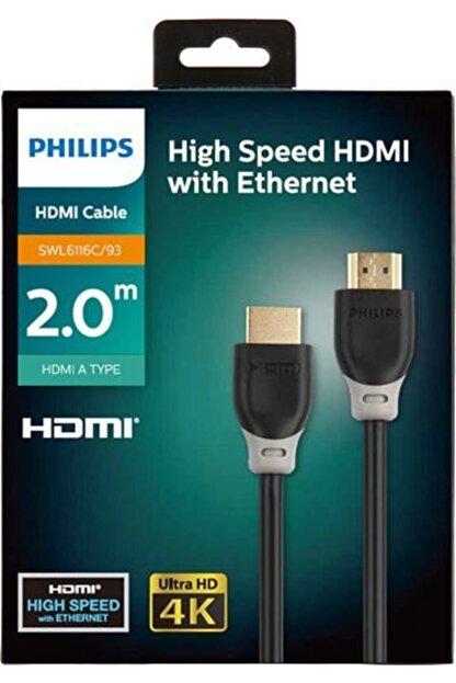 Philips 2 Metre Hdmı Kablo Altın Uçlu 4k Ultra Hd Kablo Swl6116c