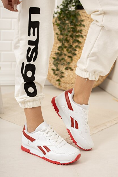 Moda Değirmeni Kadın Beyaz Sneaker Md1053-101-0001