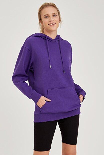 Defacto Kapüşonlu Regular Fit Sweatshirt