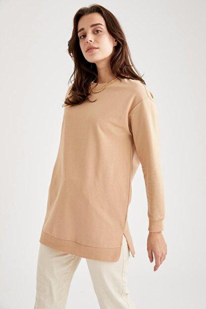 Defacto Oversize Basic Tunik Sweatshirt