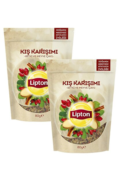 Lipton Kış Karşımı Dökme Bitki Çayı 80 Gr X 2 Adet